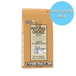 Croquettes Chien -  Natural Choice adulte light agneau NUTRO  6kg 34567