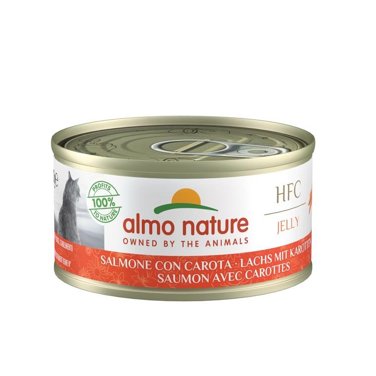 Boîte Chat - Almo nature® Saumon Carotte Almo 70g 354192