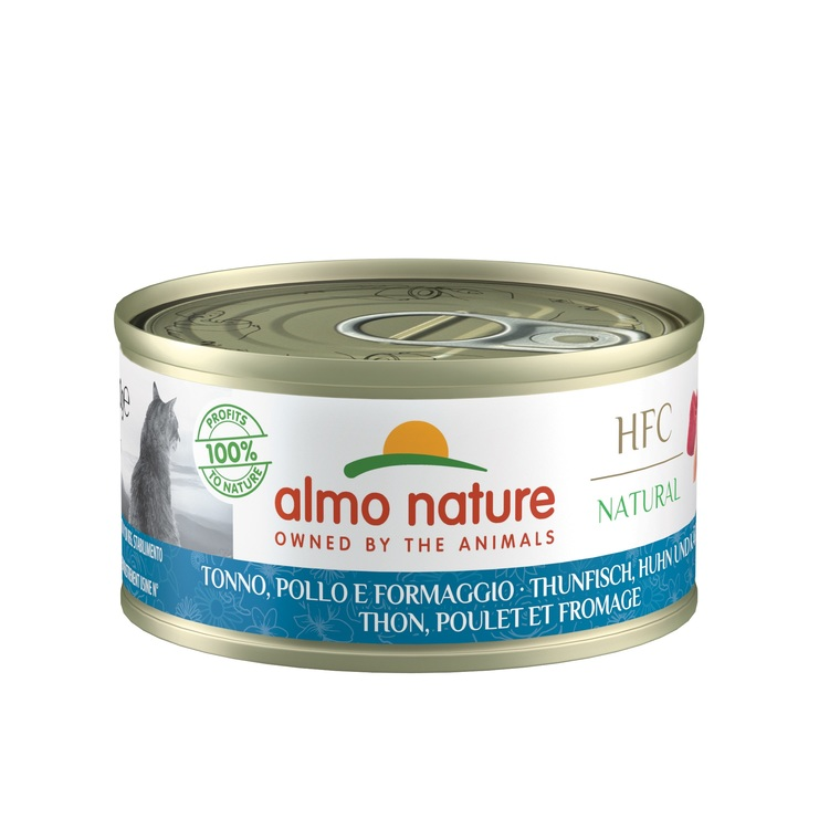 Boîte chat adulte Thon Fromage Almo 70g 354196