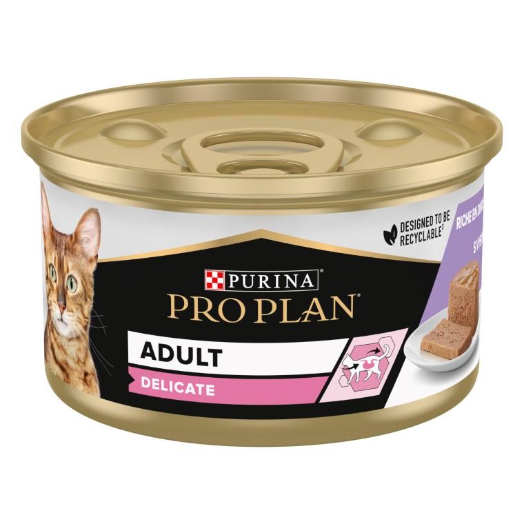 Boîte chat Adulte Sensible Dinde Pro Plan 85g 363518