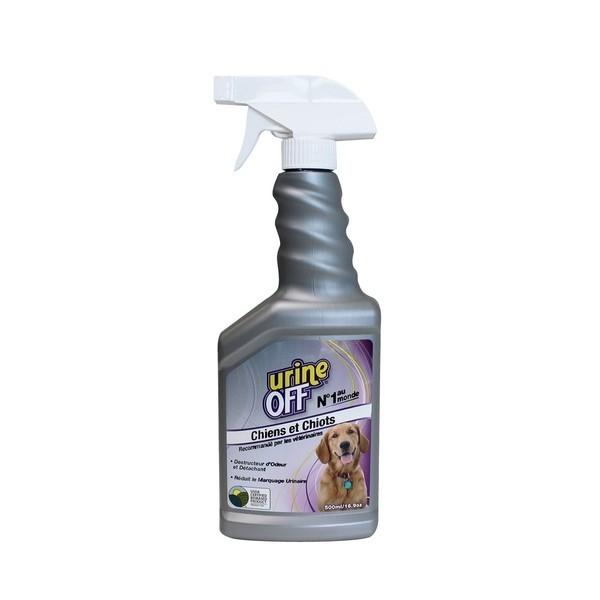 Destructeur d'odeur Urine Off pour chiens et chiots Flacon avec spray 500 ml  366751