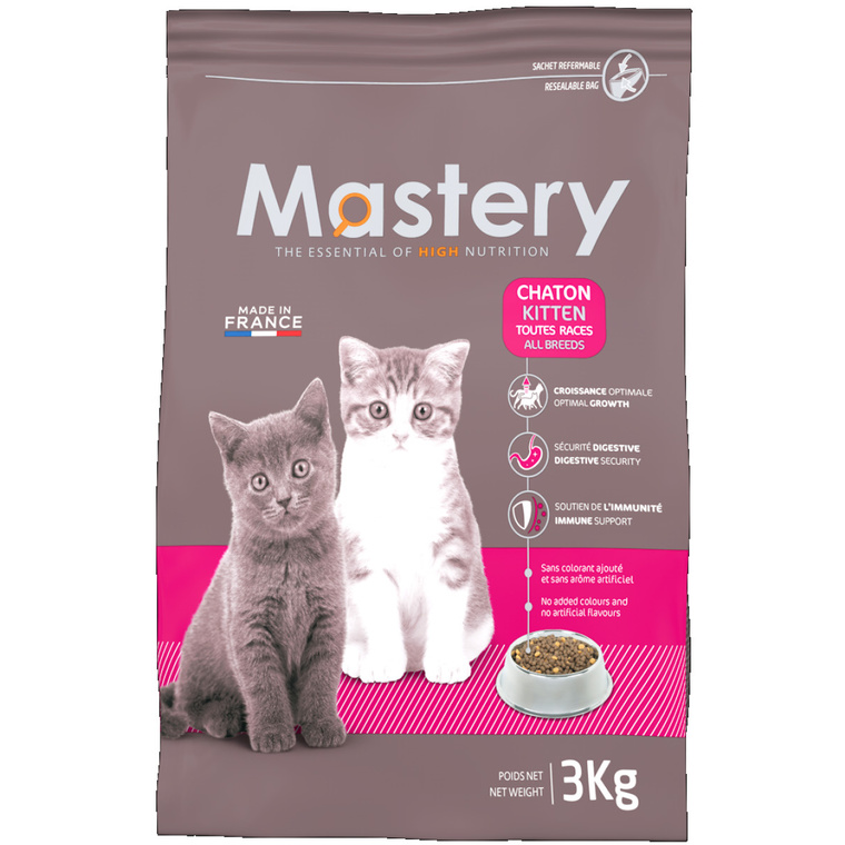Croquette chat Mastery chaton 3kg 367487