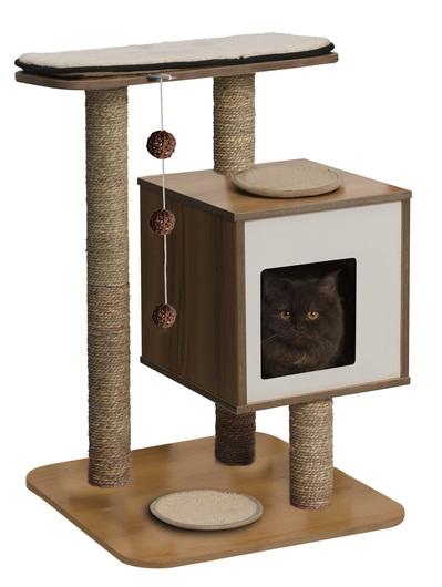 Arbre à chat Vesper V-Base Walnut 371202