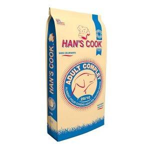 Croquettes Chien - Han's Cook Complet 25/10 toutes races 20kg 371645