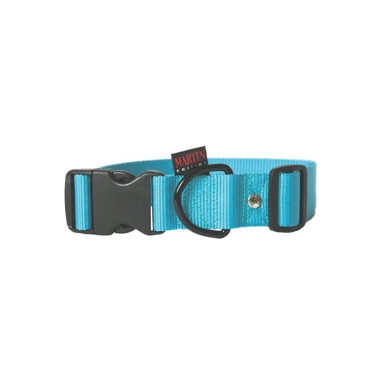 Collier chien réglable 40mm / 50-70cm bleu 37288