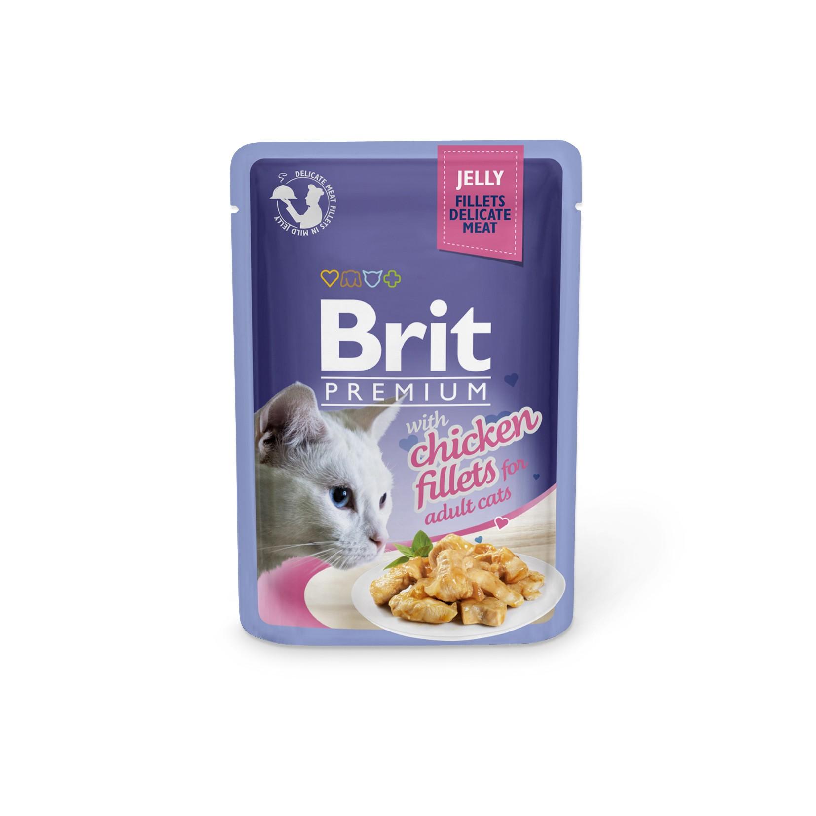 Boîte Chat - Brit sachet de poulet en gelée