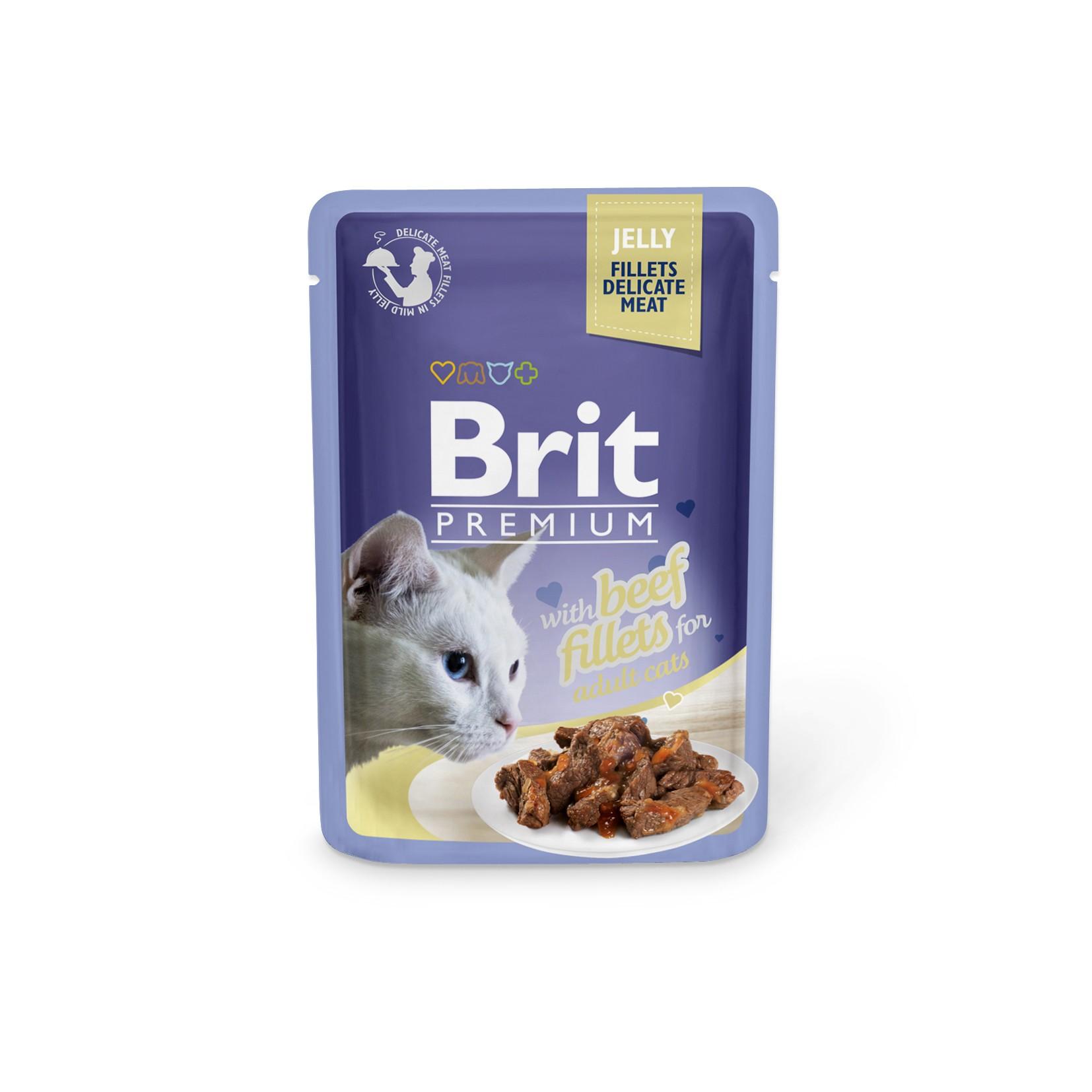 Boîte Chat - Brit sachet de boeuf en gelée