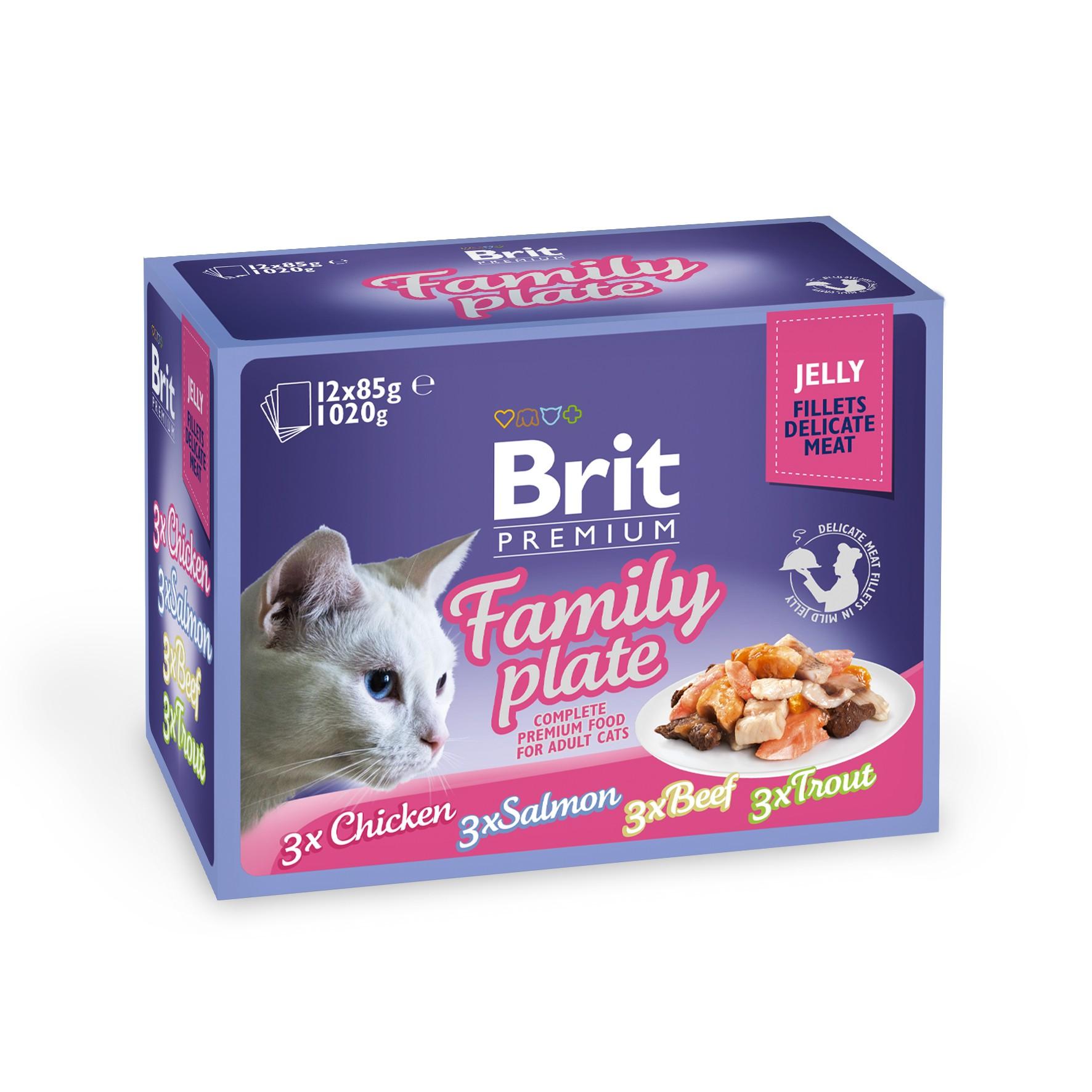 Boîte Chat - Brit Premium Pouches Family Plate