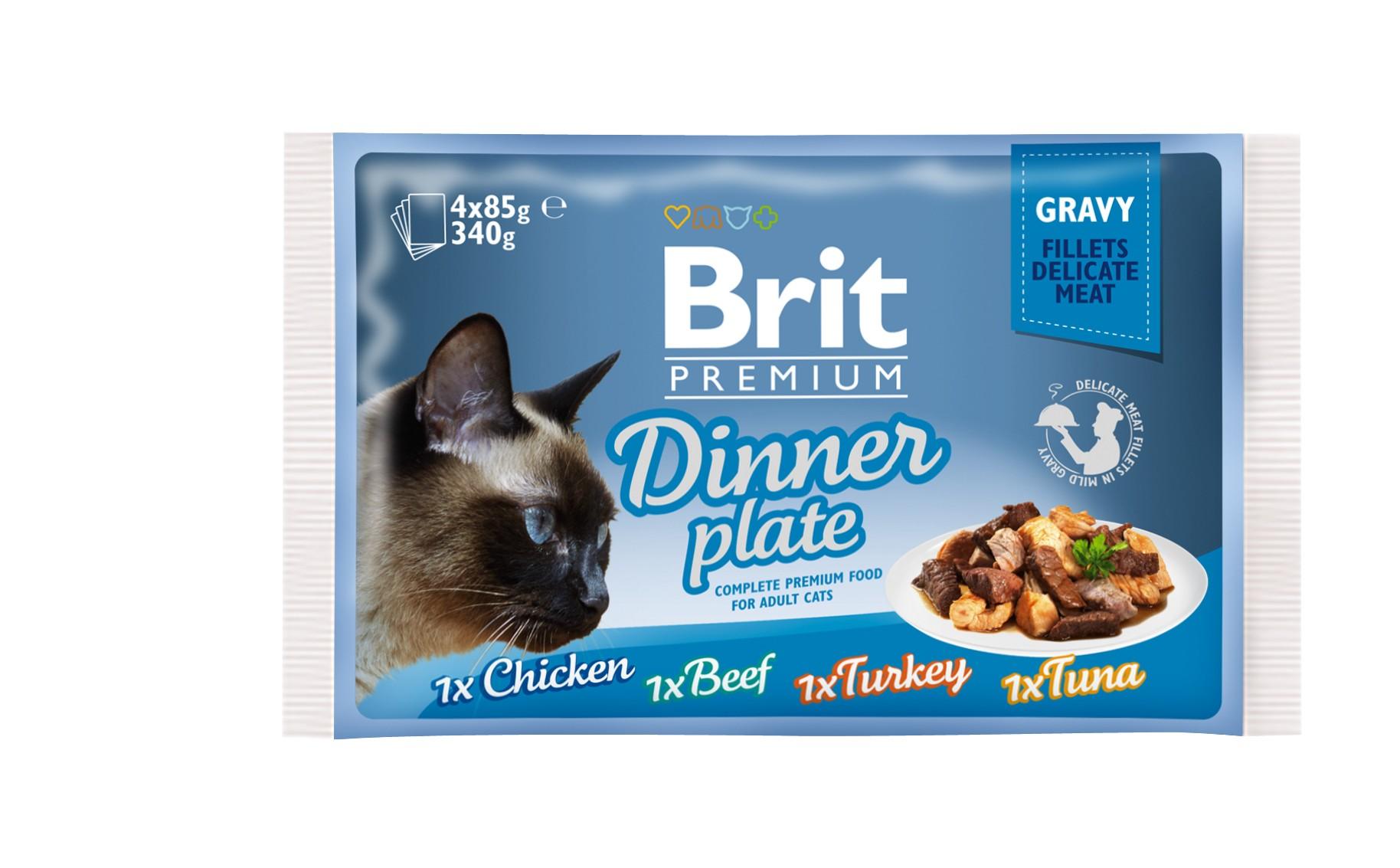 Boîte Chat - Brit Premium Pouches Gravy Dinner Plate