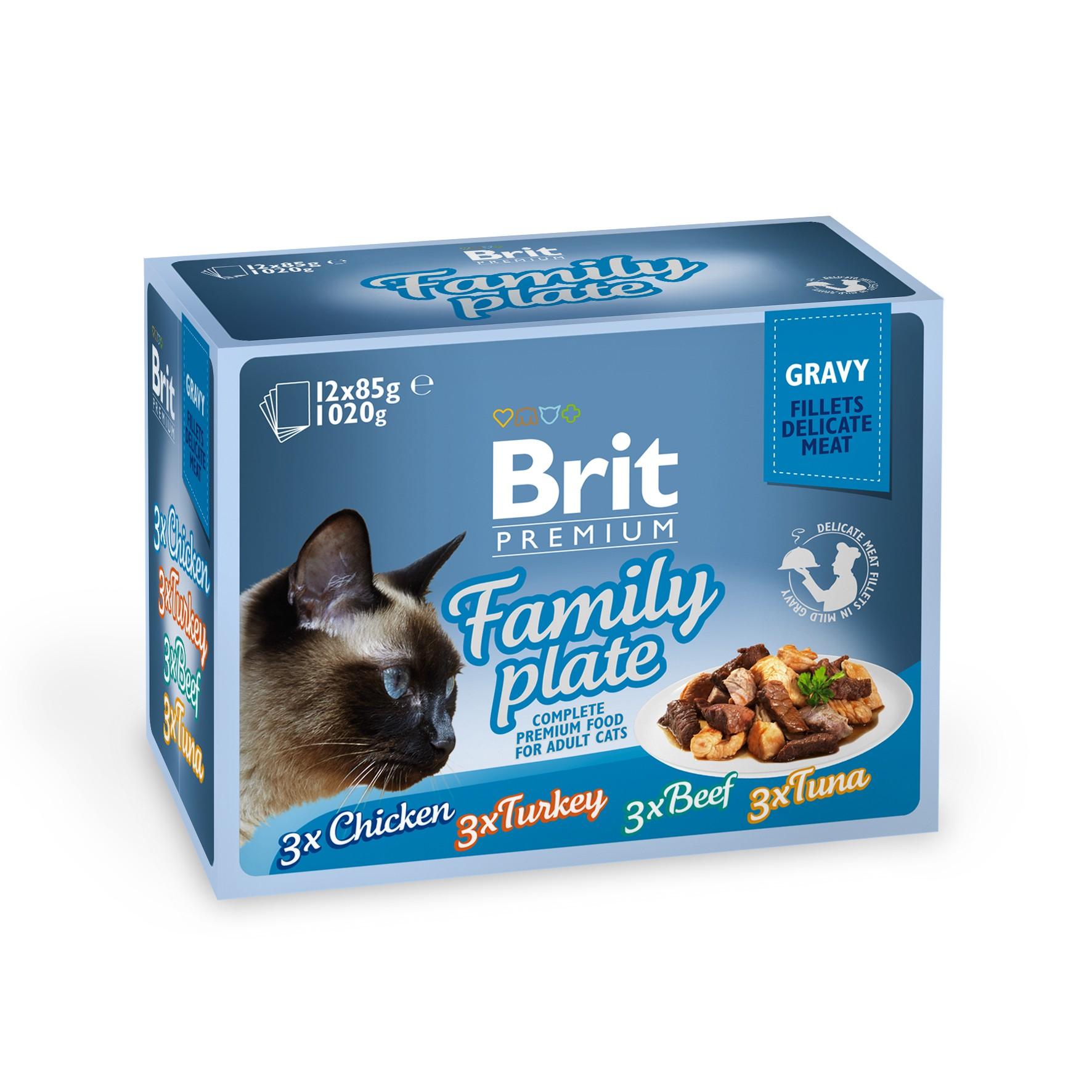Boîte Chat - Brit Premium Pouches Gravy Family Plate