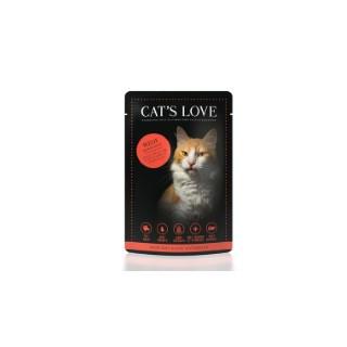 Boîte Chat -  Sachets repas Cat's Love au bœuf 85gr 413528
