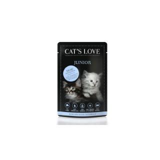 Boîte Chat -  Sachets repas Cat's Love Junior au veau 85gr 413532