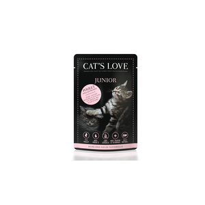 Boîte Chat - Sachets repas Cat's Love Junior au poulet 85gr 413533