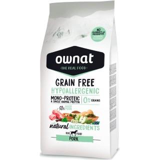 Croquettes Chien - Ownat Grain Free Hypoallergenic Adulte sans céréales Porc 3kg 413886