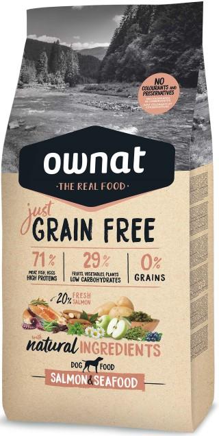 Croquettes Chien - Ownat  Just Grain Free Adulte sans céréales Saumon & Poisson - 14kg 413893