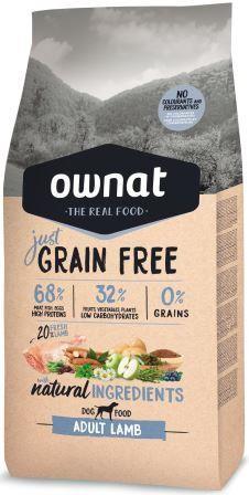 Croquettes Chien - Ownat Just Grain Free  Adulte sans céréales Agneau - 14kg 413895