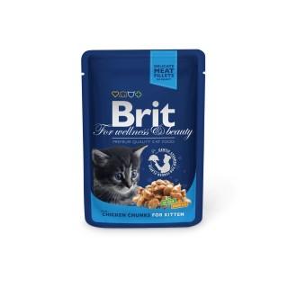 Boîte Chaton - Brit Premium Pouches Gravy au Poulet  413905