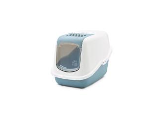 Maison de toilette pour chat Nestor Bleu/Gris 415400