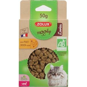 Friandises pour chat Mooky bio Lovies au poulet en étui de 50 g 416031