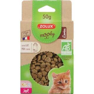 Friandises pour chaton Mooky bio kitty lovies lait en étui de 50 g 416045