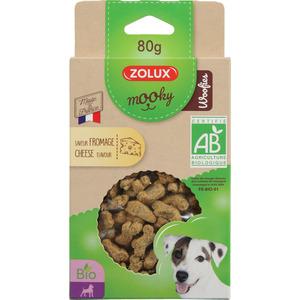 Friandises pour chien Mooky bio woofies au fromage en étui de 80 g 416056