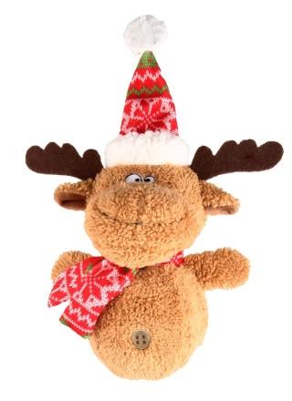 Peluche sonore chien - Cerf de Noël 418409