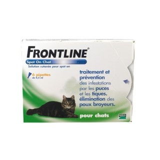 Frontline spot on chat pipettes antiparasitaire x6 474673