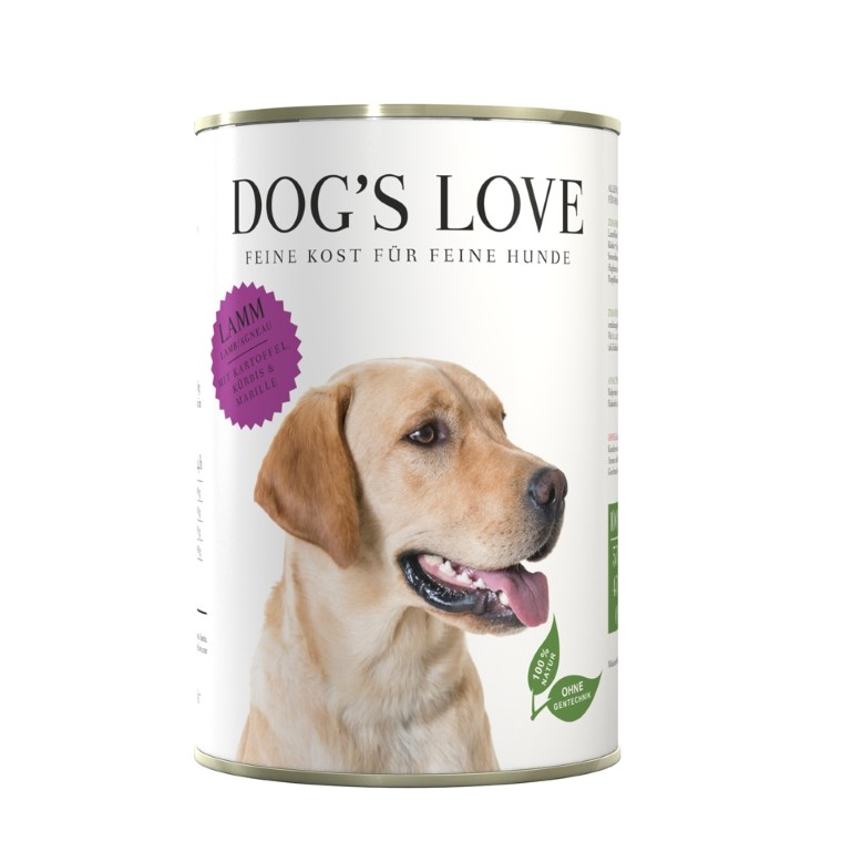 Boîte Naturelle Chien – Dog's Love Agneau 400 gr 413508