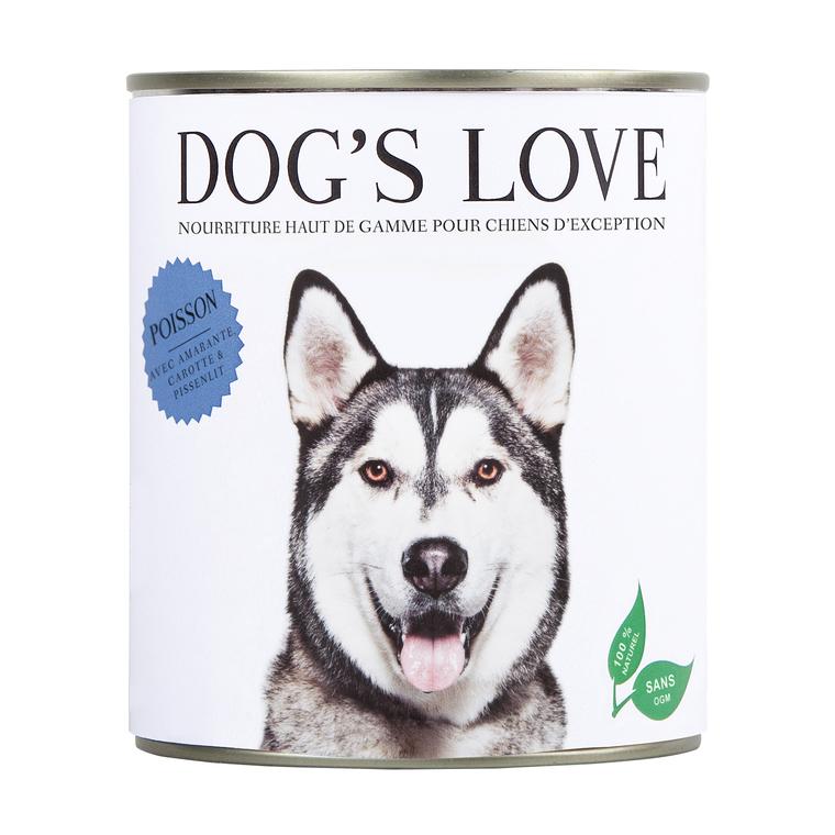 Boite Chien - Dog's Love sans céréales au Poisson 400g 413512