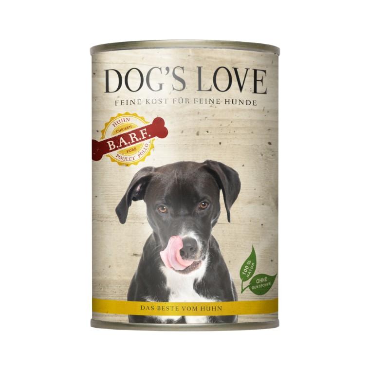 Boite Chien - Dog's Love Pure Viande au poulet 400g 413520