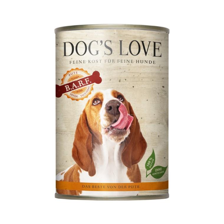 Boite Chien - Dog's Love Pure Viande à la dinde 400g 413521