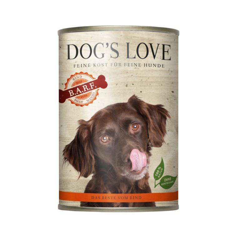 Boite Chien - Dog's Love Pure Viande au boeuf 400g 413522