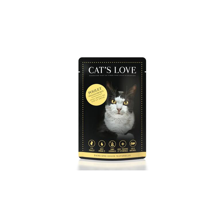 Boîte Chat -  Sachets repas Cat's Love au poulet 85gr 413526