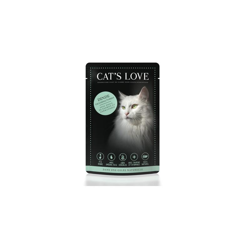 Boîte Chat -  Sachets repas Cat's Love à la dinde 85gr 413527