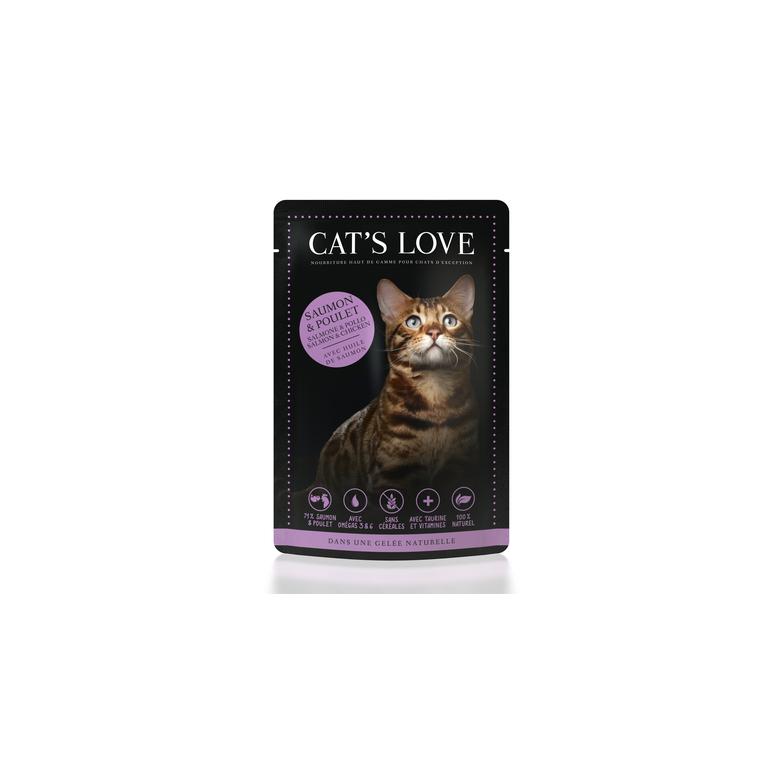 Boîte Chat -  Sachets repas Cat's Love MIX Saumon & Poulet 413531