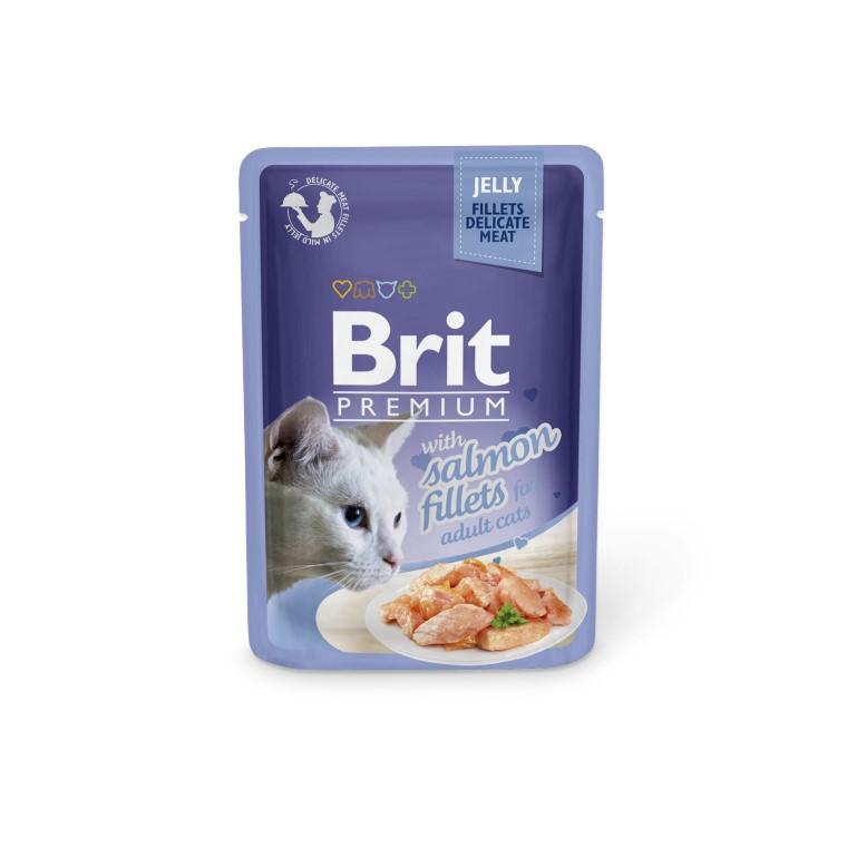 Boîte Chat - Brit sachet de saumon en gelée 413861