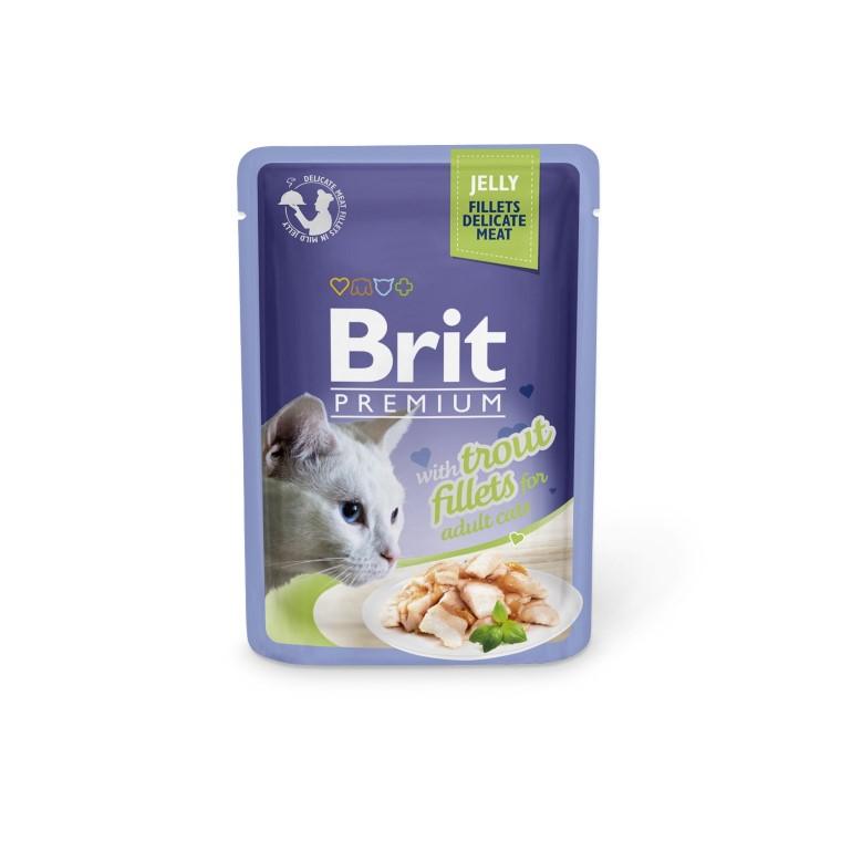 Boîte Chat - Brit sachet de truite en gelée 413862