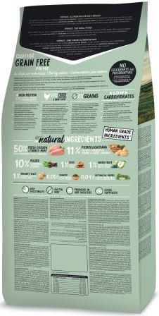 Croquettes Chien - Ownat Grain Free Prime Adulte sans céréales Dinde & Poulet 3kg 413865
