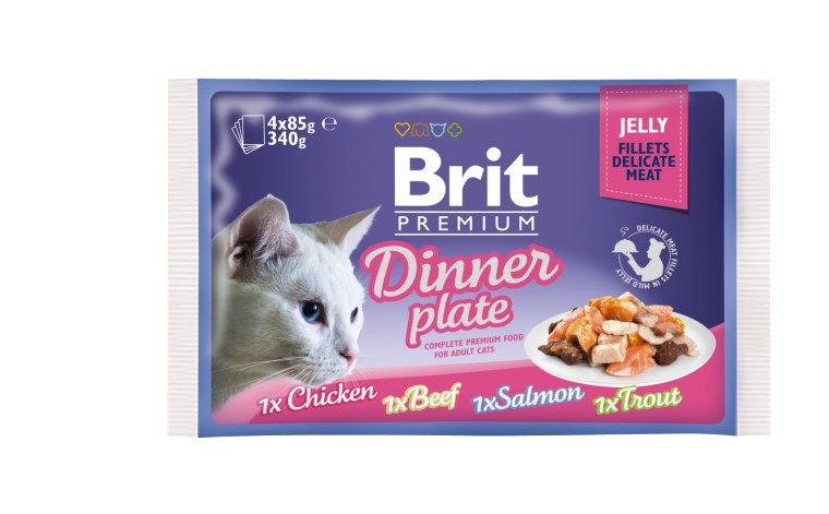 Boîte Chat - Brit Premium Pouches Jelly Dinner Plate 413871