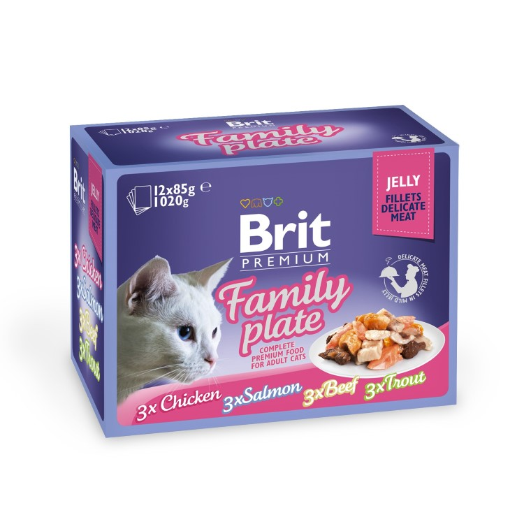 Boîte Chat - Brit Premium Pouches Family Plate 413875