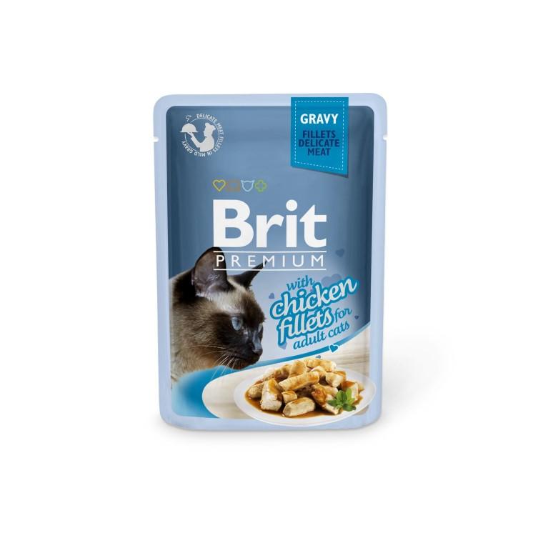 Boîte Chat - Brit Premium Pouches Gravy au Poulet 413876