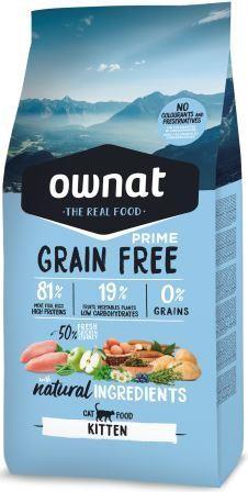 Croquettes Chaton - Ownat Grain Free Prime Dinde & Poulet sans céréales 1kg 413880