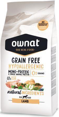 Croquettes Chien - Ownat Grain Free Hypoallergenic Adulte sans céréales Agneau - 14kg 413885