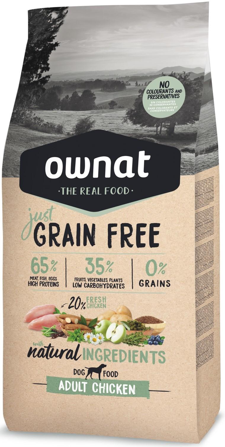 Croquettes Chien - Ownat Just Grain Free Adulte sans céréales Poulet 14kg 413891