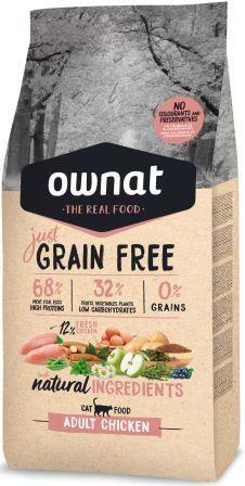 Croquettes Chat - Ownat Grain Free Just Adulte sans céréales au Poulet 1kg 413896