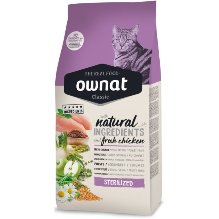 Croquettes Chat - Ownat Grain Free Just Sterilized 1kg 413898