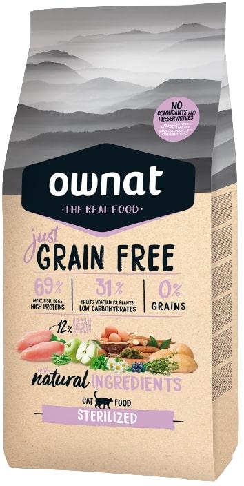 Croquettes Chat - Ownat Grain Free Just Sterilized 3kg 413899