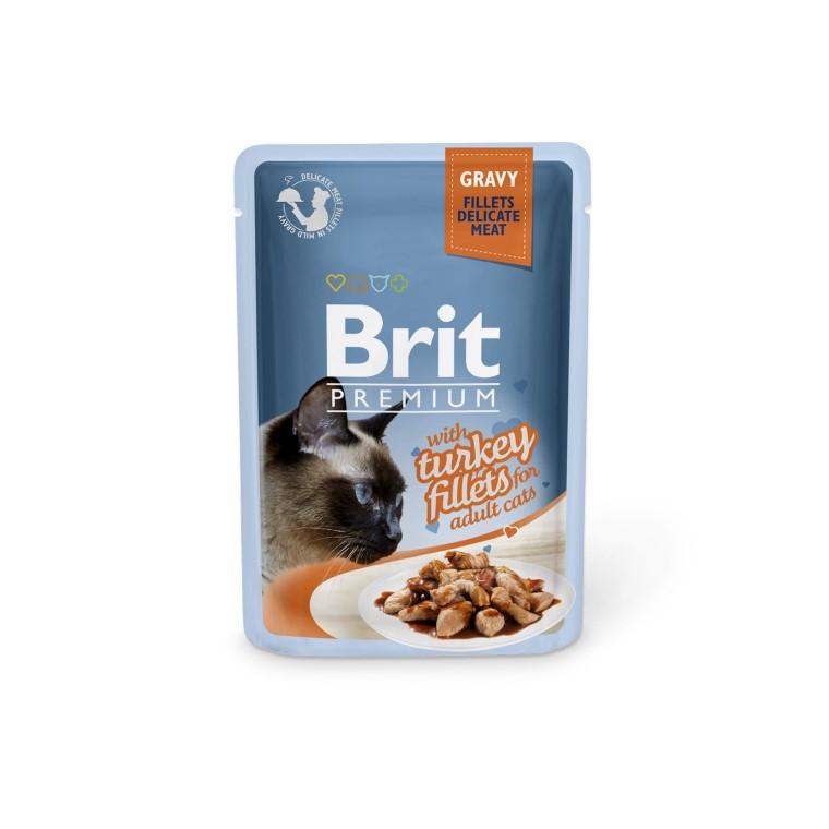 Boîte Chat - Brit Premium Pouches Gravy à la Dinde 413901
