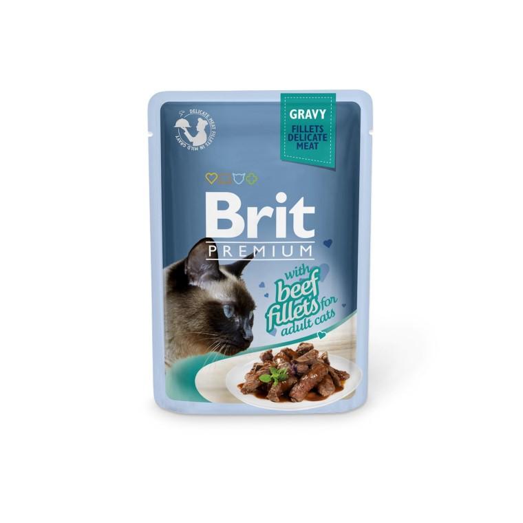 Boîte Chat - Brit Premium Pouches Gravy au Bœuf 413903