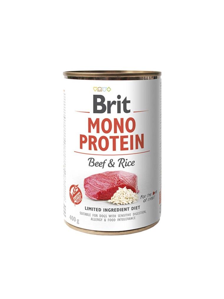 Boîte Chien - Brit Mono Protein Boeuf et Riz 413924